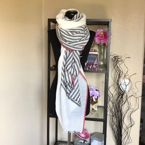 NWOT Rag & Bone multicolored striped fringe scarf